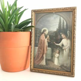 """Vintage schilderijtje """"Ter herinnering aan Uw H. communie"""" nr. 3"""