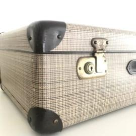 Vintage  koffer XL van geperst karton, Jaren '50