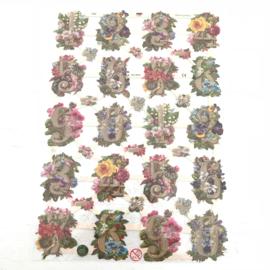 Poezie plaatjes bloemen en cijfers nr. 7339