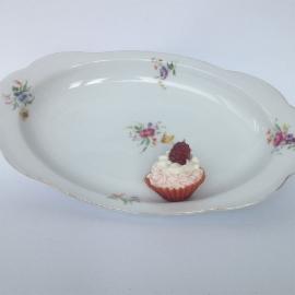 Vintage porceleinen opdien-schaaltjes bloemetjes