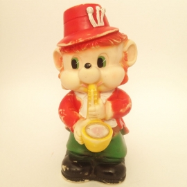 """Vintage piepfiguur """"muis die saxofoon bespeelt"""""""