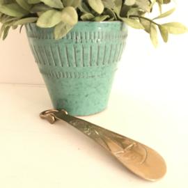 """Vintage massief koperen schoenlepel """"zeilboot"""""""
