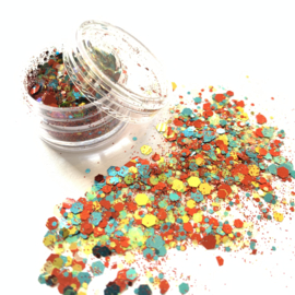 Glitters chuncks 1/2/3 mm MIX 6