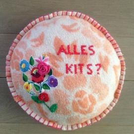 Rond kussen van oude dekens: Alles kits?