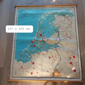"""Vintage  landkaart grondsoorten, """"Zutphen, W.J. Thieme & Cie"""""""