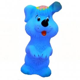 Piepfiguur retro hondjeblauw