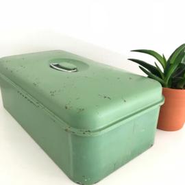 Vintage broodtrommel groen nr. 1