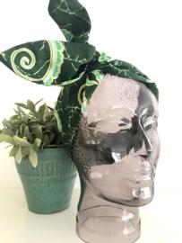"""Haarband met ijzerdraad """"uit eigen atelier"""", Indonesische print 6"""