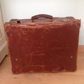 Koffer leder vintage nr. 6