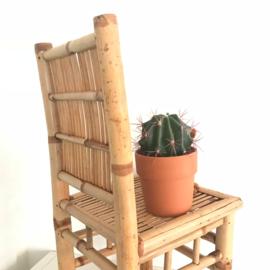 Vintage bamboe/ rotan stoeltje c.q. plantentafel