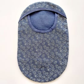 """Stoma cover/ hoesje """" Paisley donkerblauw"""""""