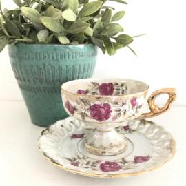 Vintage kop en schotel,  100