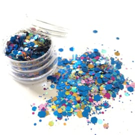 Glitters chuncks 1/2/3 mm MIX 3