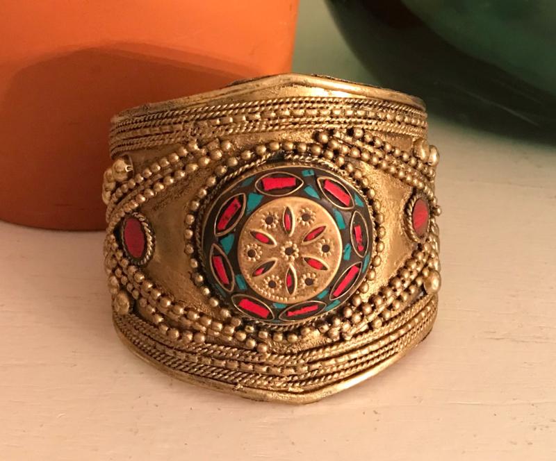 "Armband ""goud"" India nr. 8, handgemaakt"