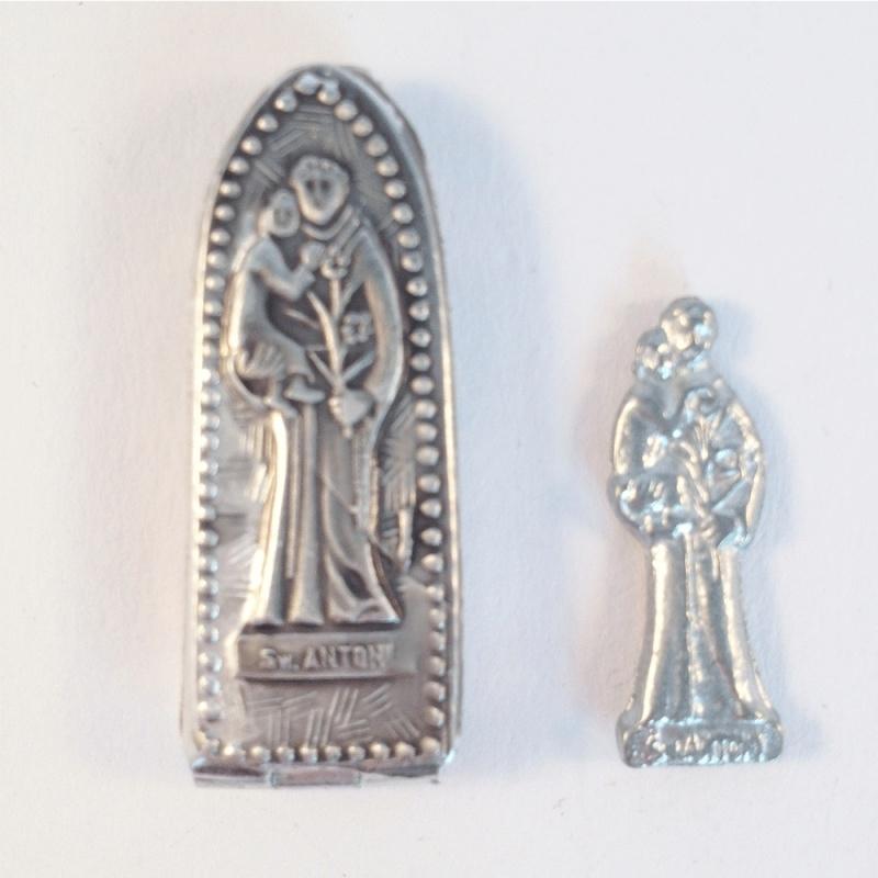 Amulet in doosje Sint Antonius