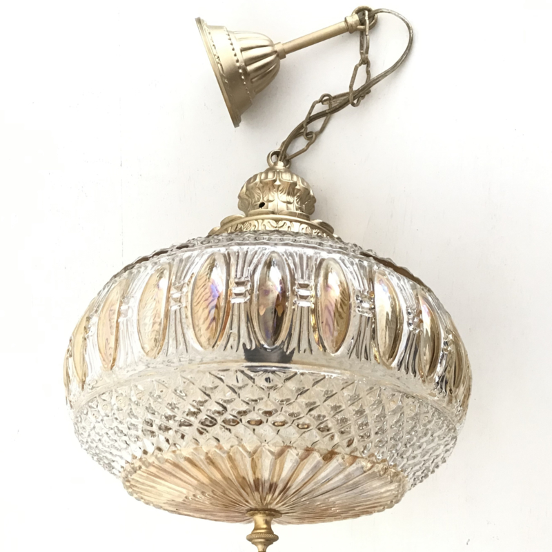 Vintage hang lamp nr. 1, jaren '50/'60