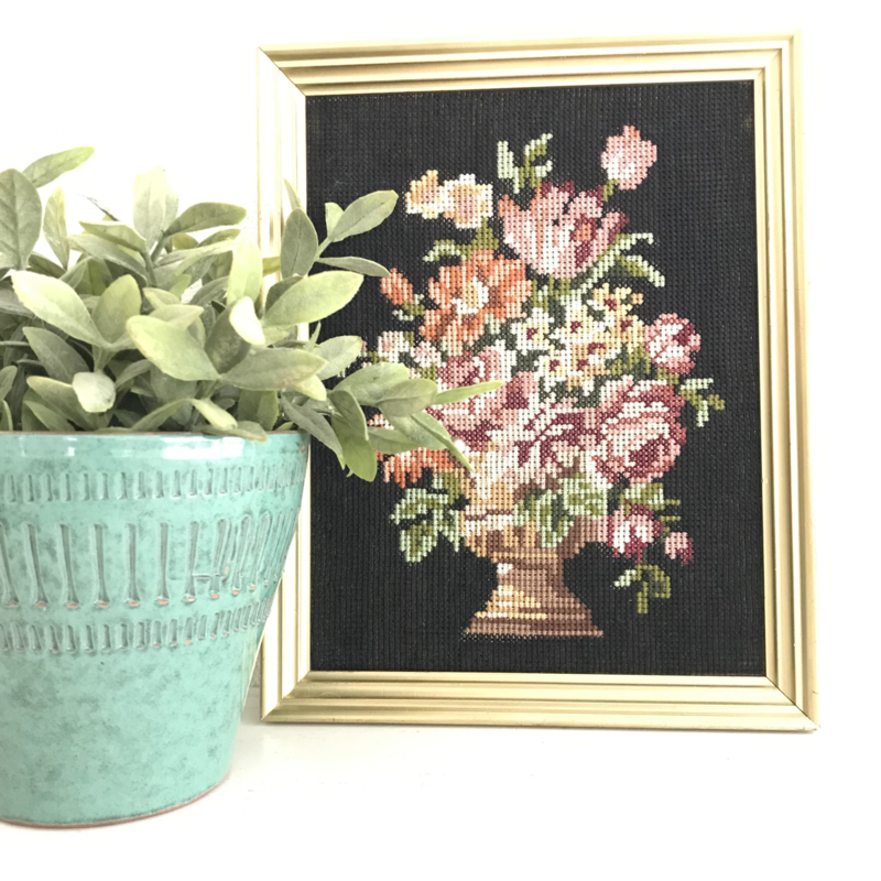 Borduur schilderij Bloemen nr. 2