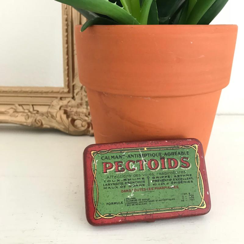 """Vintage blikje """"Calmant antiseptique PECTOIDS"""""""