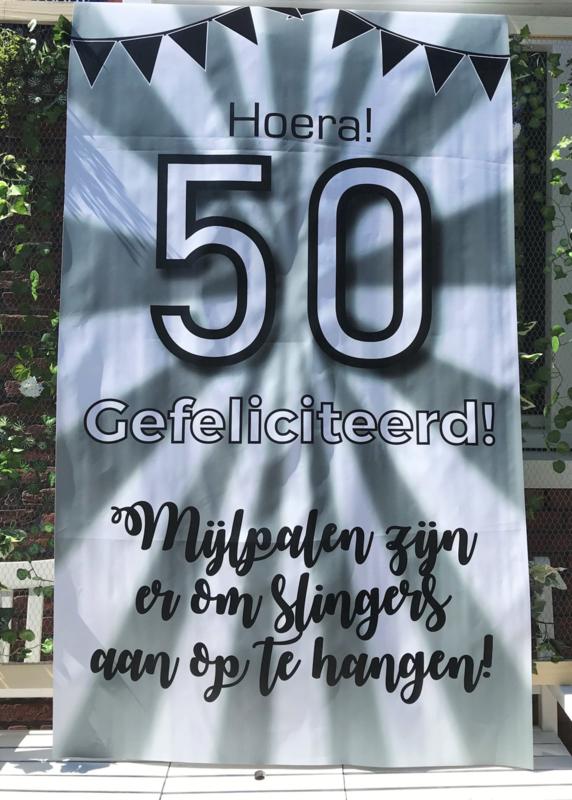 Te huur: Banner 50 jaar/ Abraham/Sara