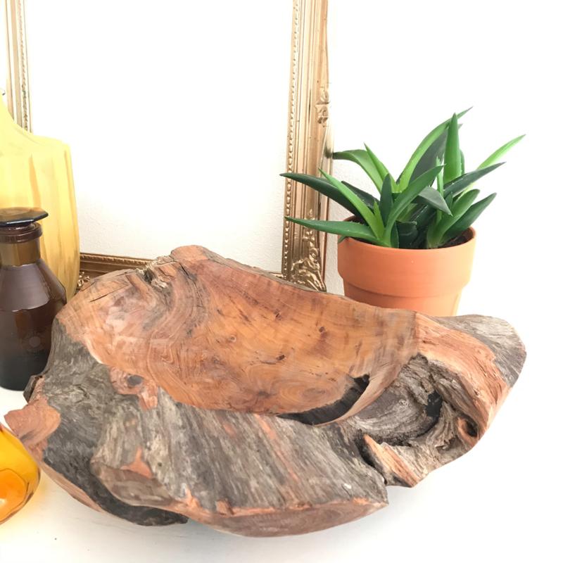 Robuuste teak houten schaal