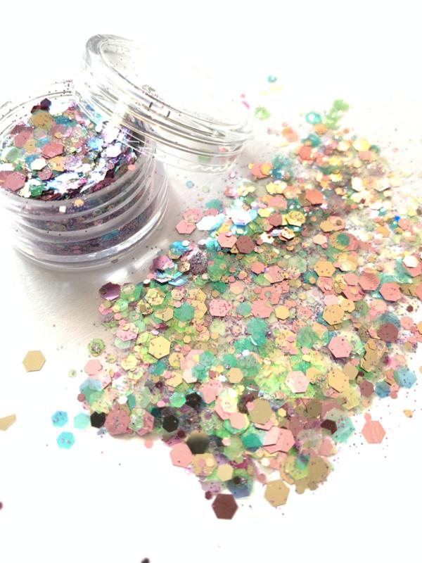 Glitters chuncks 1/2/3 mm MIX 10