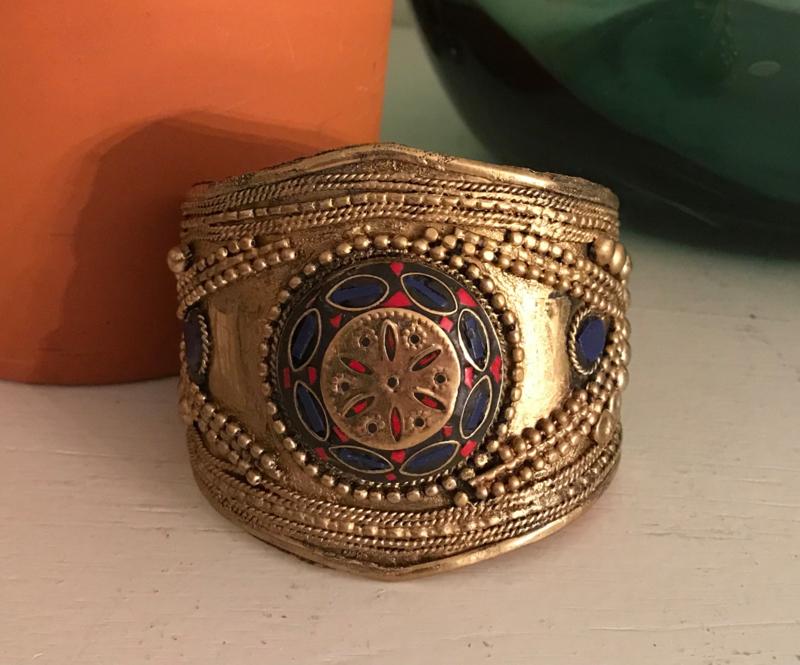 "Armband ""goud"" India nr. 9, handgemaakt"