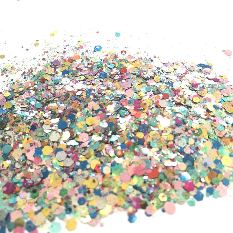 Glitters chuncks 1/2/3 mm MIX 13 (Festival)