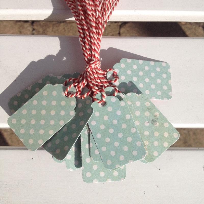 Prijs kaartjes( tags) groene stip met donker gebloemde achterzijde M