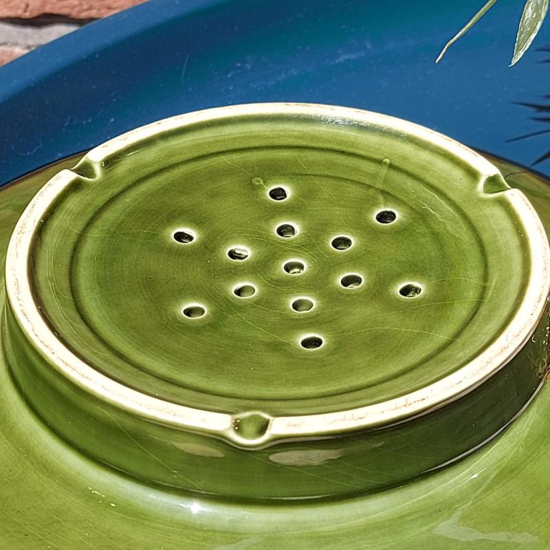 Vintage uitlekschaal groen