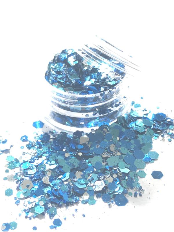 Glitters chuncks 1/2/3 mm MIX 12