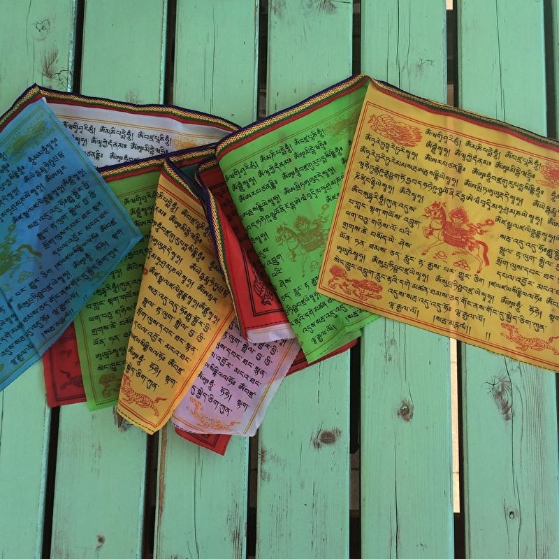 SALE:Tibetaanse gebedsvlaggetjes ca. 3 m