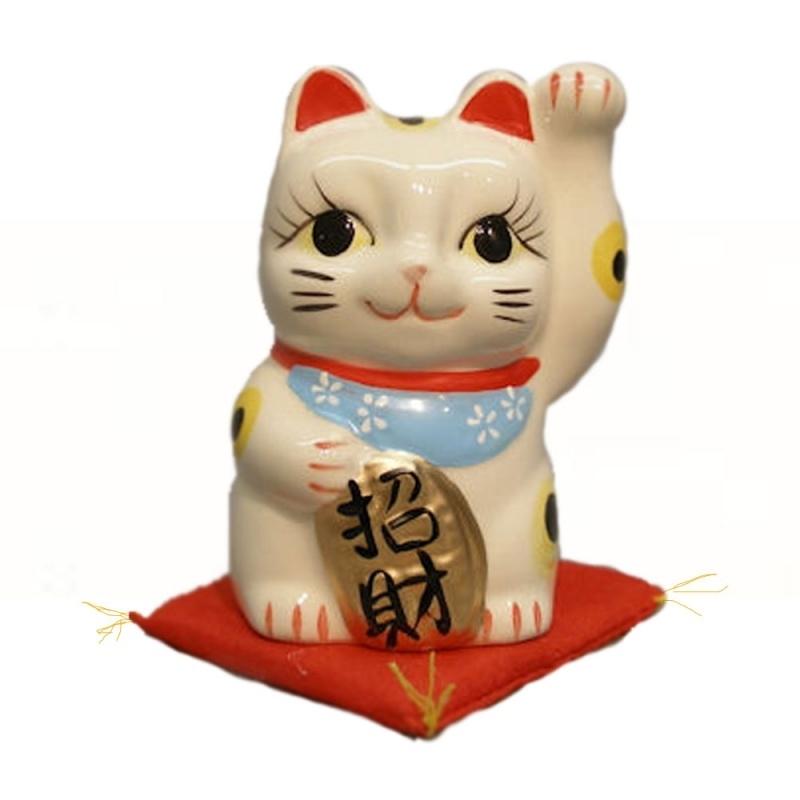 Gelukskat( Maneki Neko) spaarpotje 10 cm