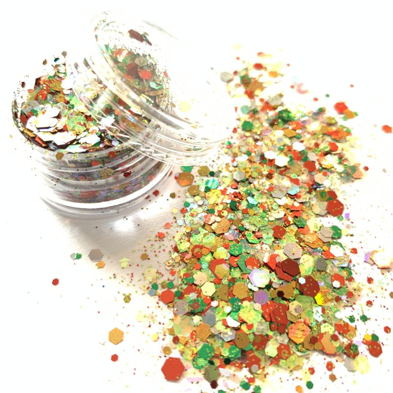 Glitters chuncks 1/2/3 mm MIX 11