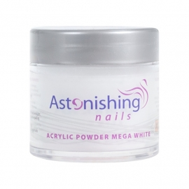 Astonishing Nails Acrylic Powder Mega White 25 gr