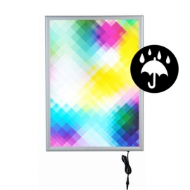 Kliklijst LED verlicht Waterproof A0 enkelzijdig