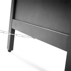 Krijtstoepbord ZWART 55x85cm