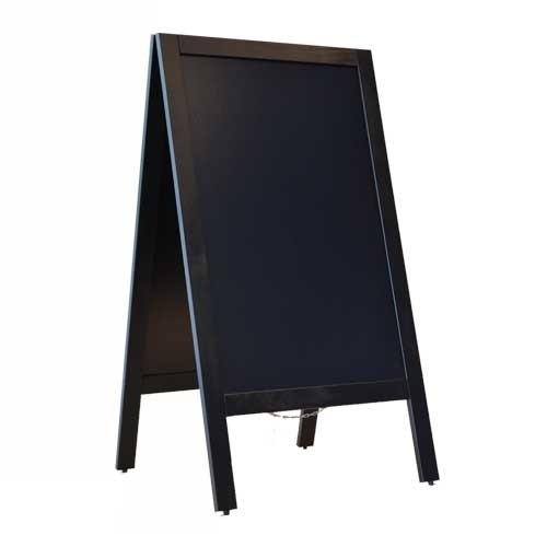 Krijtstoepbord ZWART 75x135cm