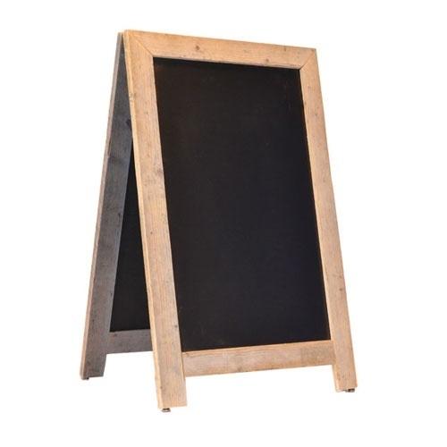 Krijtstoepbord Steigerhout Deluxe 75x135cm