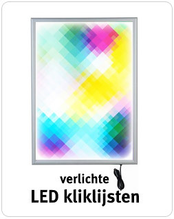 Verlichte LED kliklijsten in diverse formaten