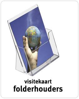 Visitekaart Folderhouders transparant