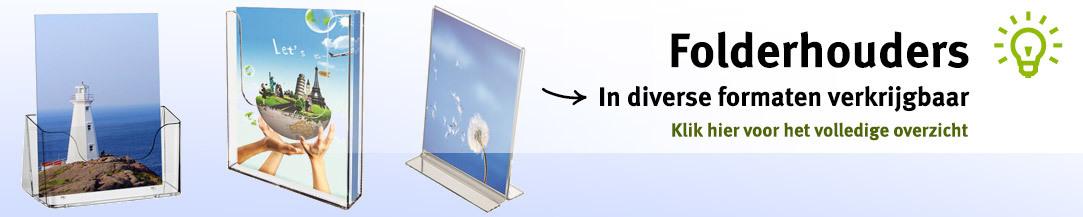 Folderhouders diverse formaten