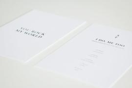 trouwkaart - minimal classic