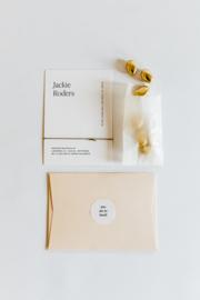 "geboortekaartje - puur & eenvoud ""Jackie"""
