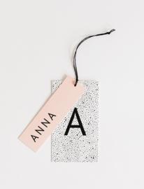 """geboortekaartje naamlabel """"Anna"""""""