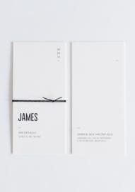 "geboortekaartje - strak & modern ""James"""
