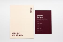 trouwkaart - bold & modern