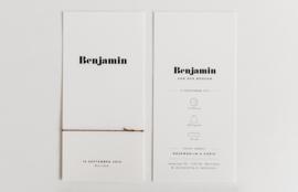 "geboortekaartje - modern & minimal ""Benjamin"""
