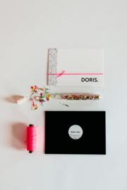 """geboortekaartje stippen """"Doris"""""""