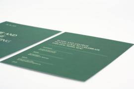 trouwkaart - modern elegance