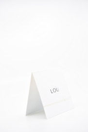 """geboortekaartje vierkant """"Lou"""""""